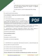Lista de Exercicios de Administracao Publica