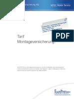 INTER Montageversicherung Tarif