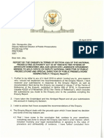 President's letter to Nomgcobo Jiba and Lawrence Mrwebi