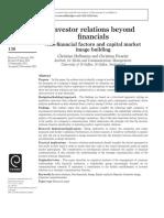 Investor Relations Beyond Financials