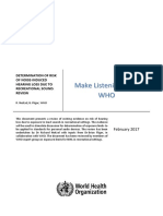 Determination of Risk of Noise-Induced Hearing Loss Due to Recreational Sound Review