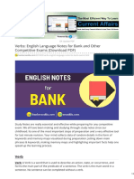 Bankersadda.com-Verbs English Language Notes for Bank and Other Competitive Exams Download PDF