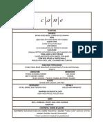 Cane menu