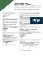 Prueba Genero Lírico 7º Basico Lengua y literatura.