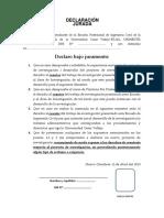 Declaración Jurada - Tesis y Proyecto de Tesis.