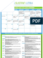 Sustain Utah Calendar Nov 2010
