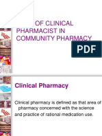Role of Clinical Pharmacist in Community Pharmacy-1