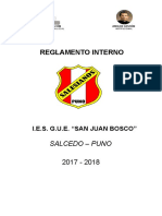 Reglamento Interno Sjb 2017