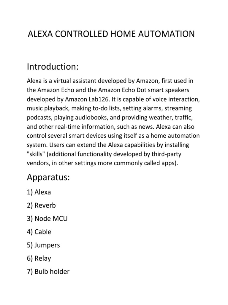 ALEXA CONTROLLED HOME AUTOMATION docx