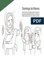 Domingo de Ramos Colorear