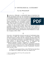 Defining Ontological Category