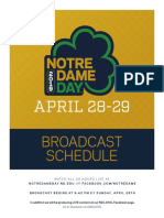 2019 ND Day Broadcast Guide