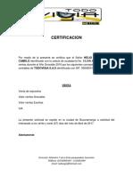 Certificaciones Helio y Laudith