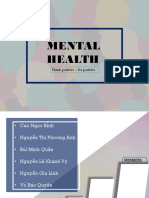 Presentation for mental health