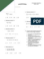 Evaluacion de Unidad 1 ECUACIONES