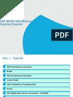 1.SAP BASIS Introductory Training Program - Day 1