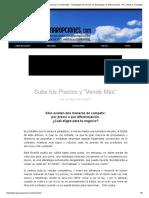 GanarOpciones.com - Sube Tus Precios y _Vende Más_ - Estrategias de Precios vs. Estrategias de Diferenciación - Por Jordys R. González