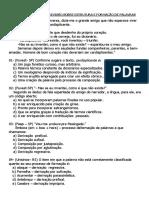 Exercícios de Revisão Sobre Estrutura e Formação de Palavras