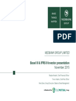 Nedbank Group IFRS9 Basel III Investor Presentation 10 and 11 Nov 2015