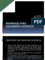 Materiales Para to Acstico