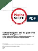 Chile Es El Segundo País Del Que Bolivia Importa Más Gasolina - Diario Pagina Siete