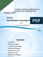 """""""Análisis de la gestión de calidad del hotel TresDe de Ciudad del Este, Paraguay, 2018""""."""