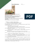 Avaliação de Língua Portuguesa- Atividade