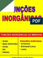 Funções Inorgânicas
