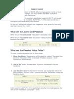 Passive Voice - Ielts and Inversion
