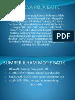 Makna Pola Batik