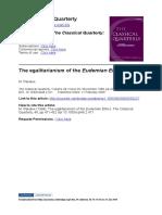Pakaluk 1998 the Egalitarianism of the Eudemia Ethics
