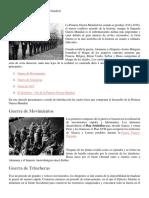 Fases de La Primera Guerra Mundial