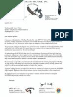 Rolling Thunder, Inc. and AMVETS letter to House Speaker Nancy Pelosi