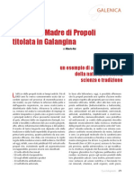 La Tintura Madre di Propoli titolata in Galangina