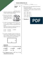 Trabajo en Grupo de Ecuaciones Cuadraticas 4to