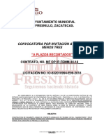 Bases de Invitacion Restringida de Obra Mf Op Ir Femm-34-18