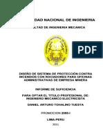 Tésis UNI Diseño de Sistema de Rociadores.pdf