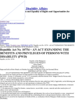 RA 10754 - Expanded PWD Law