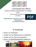 Curso para Lideres Sindicato Unitario del Giro Tuberculos Gran Mercado Mayorista de Lima