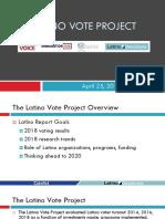 Latino Vote Report April 25