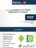 Python and Qt for Android