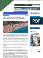 ¿Han Dejado de Ser Sol y Playa Los Principales Reclamos Para El Turismo?TecnoHotel