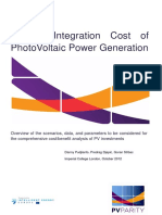 System Integration Cost of PhotoVoltaic Power Generation