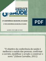 Pré-conferência de Saúde