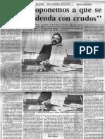 Edgard Romero - No Nos Oponemos a Que Se Pague Deuda Con Crudos - Diario de Caracas 12.05.1984