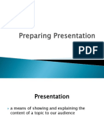 Preparing Presentation