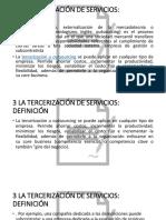 TERCERIZACION DE LOS SERVICIOS EN EL PERU