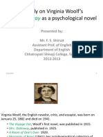 65 a Study on Virginia Woolf's Mrs Dalloway
