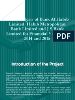 Ration analysis of 3 commercial banks in pakistan