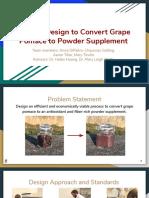 grape pomace final presentation